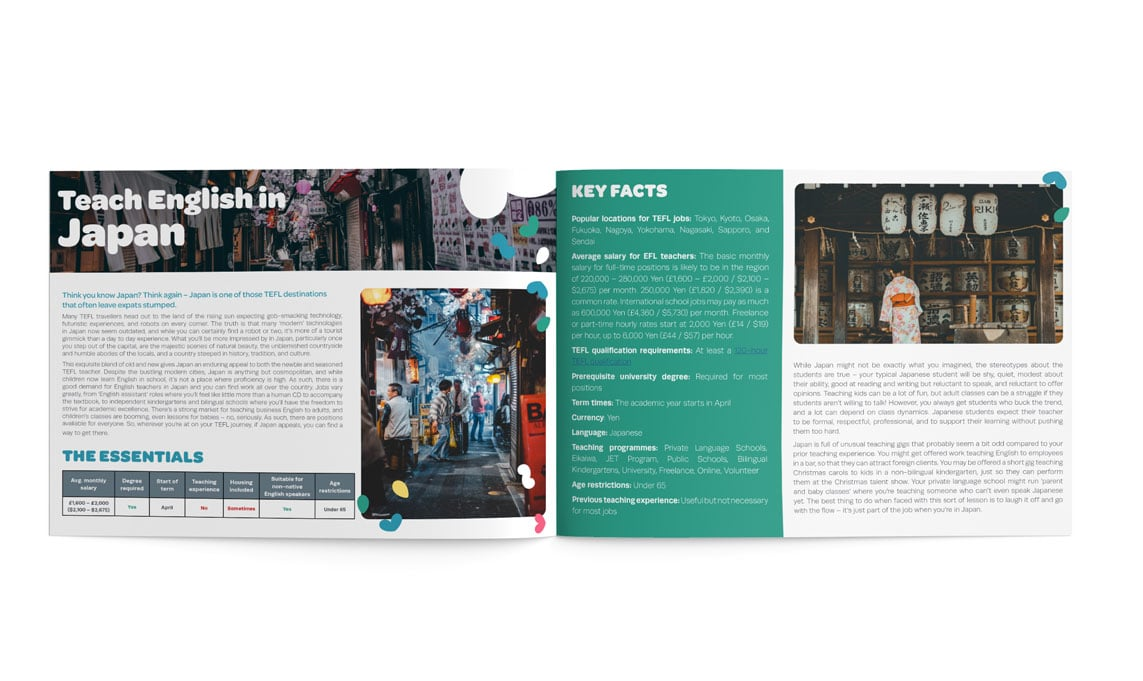 The TEFL Org Asia Guide inner pages