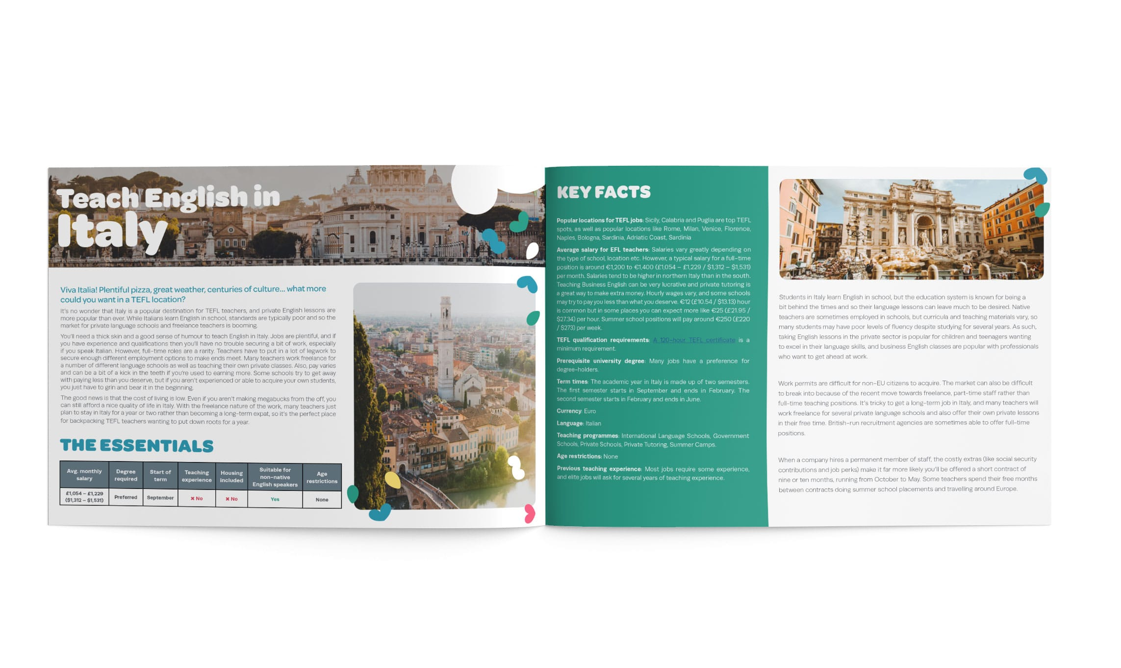 The TEFL Org Europe Guide inner pages