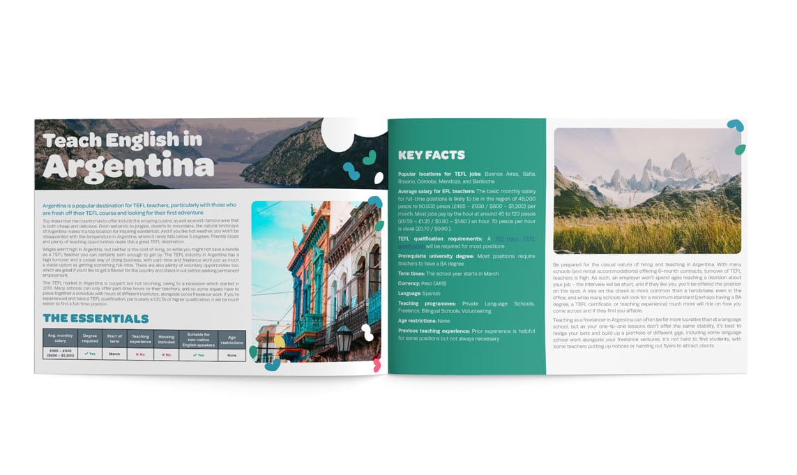 The TEFL Org Latin America Guide inner pages