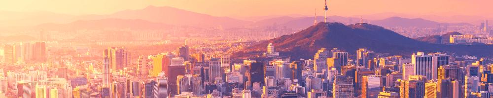 Sunset photo of Seoul skyline