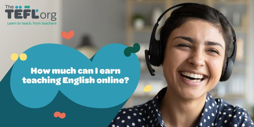 Header image with text 'how much can I earn teaching English online?'