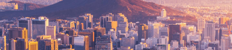 A cityscape shot of Seoul, South Korea