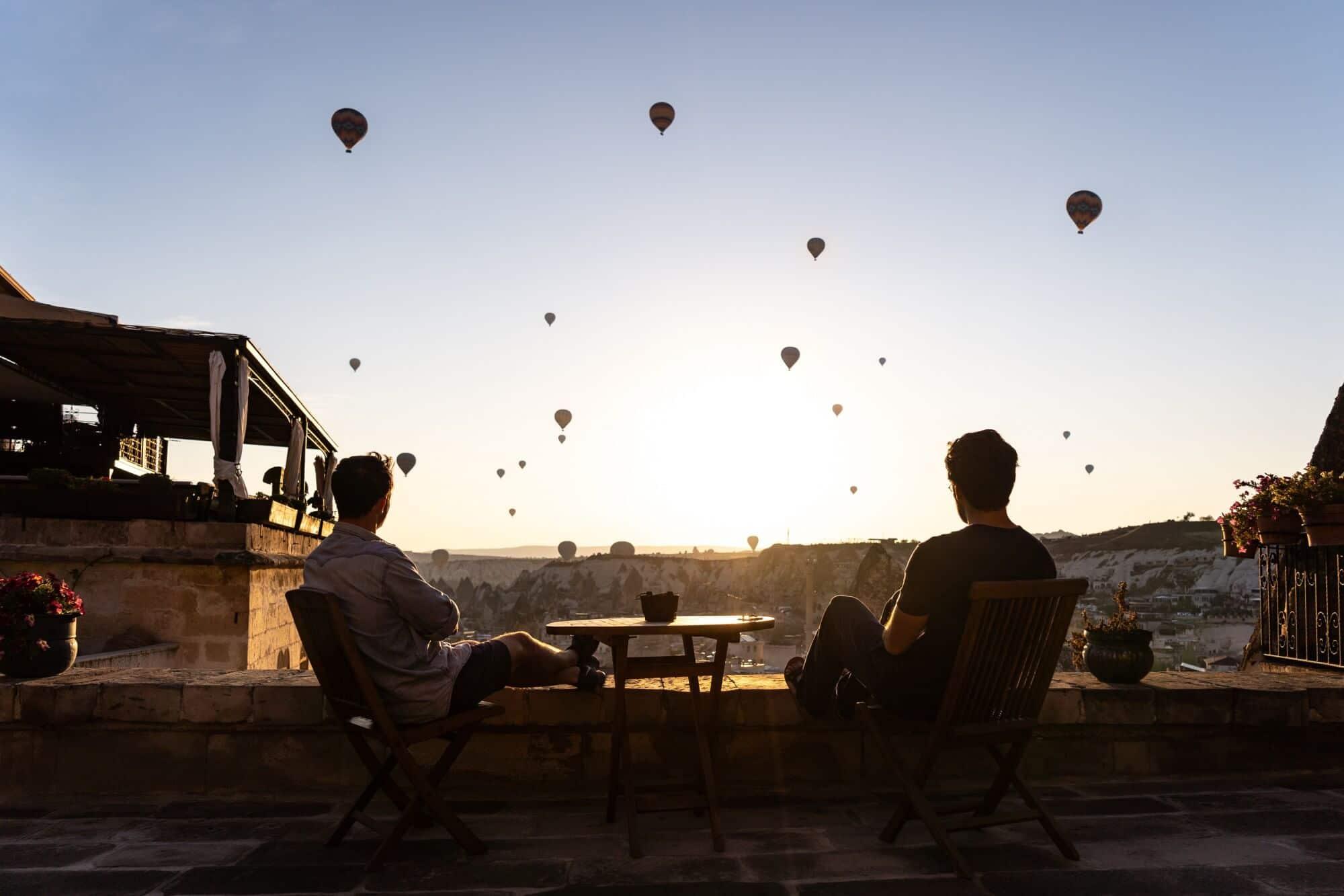 Travis Bluemling in Cappadocia, Turkey