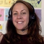 EFL teacher Laura teaching online