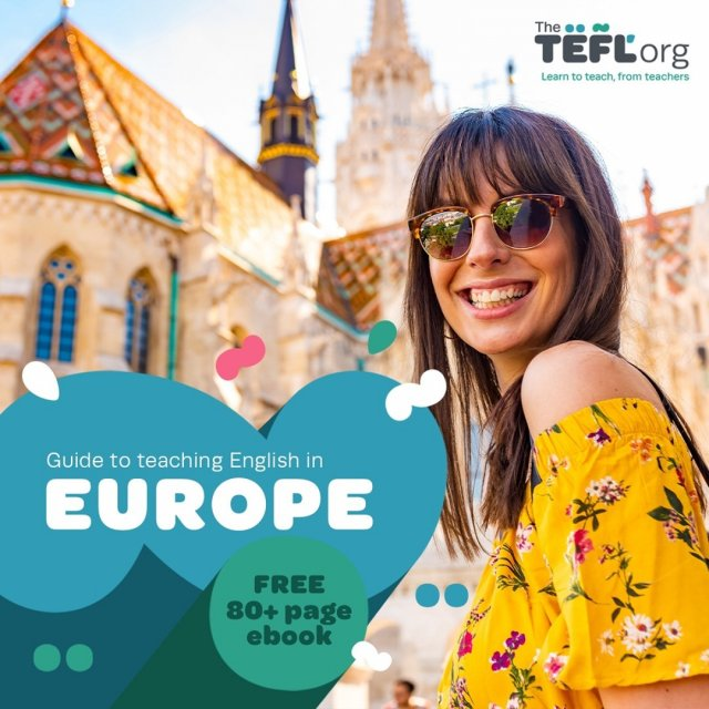 Are you looking to teach English in Europe? Keep reading! 👀⁠ ⁠ We're very excited to launch our Guide to Teaching English in Europe! ⁠ ⁠ Featuring 23 countries and spanning over 80 pages, this guide includes everything you need to know about TEFL in Europe.⁠ ⁠ It's completely FREE to download, so grab your copy now! - Link in bio 🔗⁠ ⁠ Let us know if you found this helpful 👇