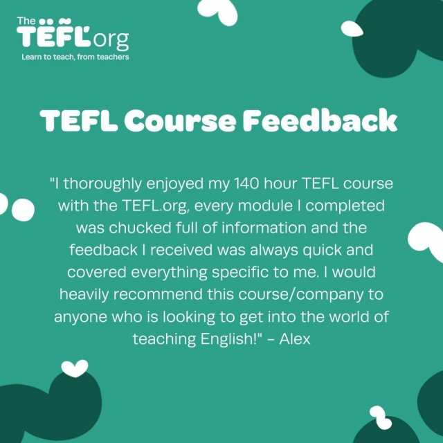 Do you want to get the best of both worlds with our combined TEFL course and pair flexible online learning with a hands-on practical classroom course? ⁠ ⁠ Alex took our 140-hour Premier TEFL course, here's what he had to say 👇⁠ ⁠ Leave your questions about our combined courses below