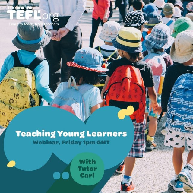 Join us this Friday at 1pm (UK time) for our latest webinar with Carl on teaching young learners.⁠ ⁠ Don't forget to click '⭐ Get Reminder' to be notified when we go live. - Link in bio 🔗⁠ ⁠ 🔥 Any burning questions? Drop them in the comments section and we'll make sure to cover them during the live stream.