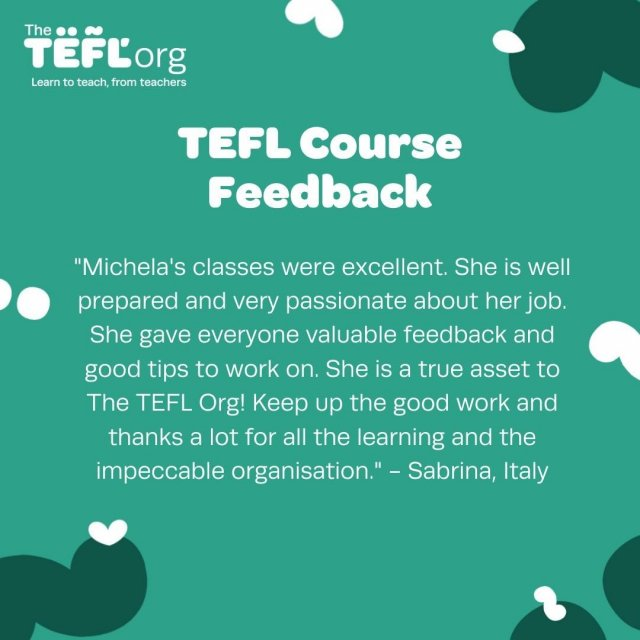 Sabrina shares her experience of taking a Virtual TEFL course.   Our Virtual Classroom TEFL Course will take you through how to plan, prepare and deliver lessons that are fun and engaging for all learner levels and age groups.⠀   Gain valuable, practical experience teaching in a classroom over Zoom, giving you the chance to get familiarised with the platform.   Find out more info on our Virtual TEFL courses - Link in bio 🔗