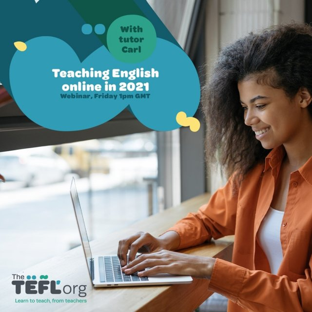 Join us this Friday at 1pm (UK time) for our first webinar of 2021 with TEFL Org tutor Carl.   We'll be talking about teaching English as a foreign language in 2021 so if you have any questions about teaching English online or abroad, drop them in the comments section below and we'll make sure to answer them during the live stream 👇  Don't forget to click '🔔 Set Reminder' to be notified when we go live! - Link in bio 🔗
