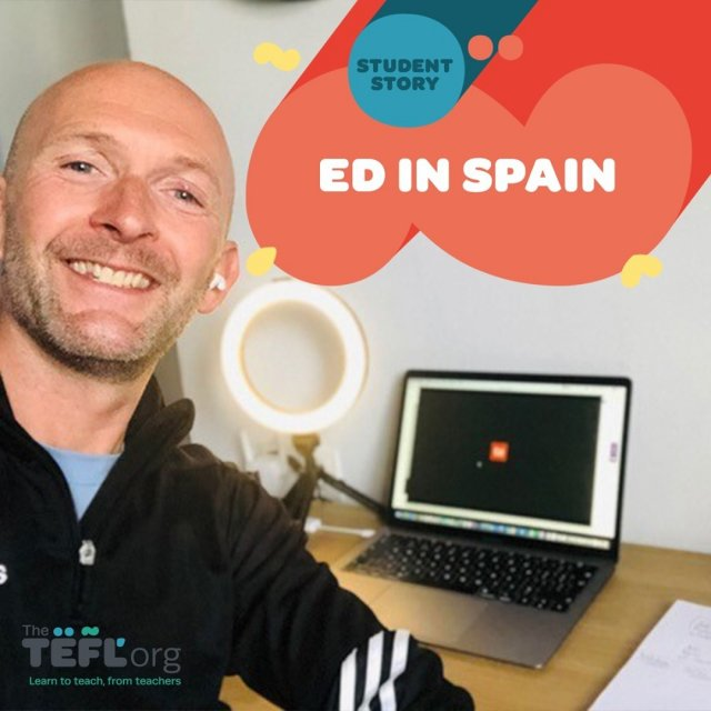 Read all about Ed's TEFL journey in Spain 👇⁠ ⁠ In early 2020, 45-year-od Ed decided it was time for a change. At the start of the year he was stressed out working for a large multi-national corporate organisation, but by the end of it he was in sunny Spain teaching English at a language academy in Granada!⁠ ⁠ The coronavirus pandemic has been very disruptive for EFL teachers around the world. Ed had originally intended on heading out to Spain in May after completing his 120-hour course, but the pandemic delayed plans by three months. By September, though, Ed had a job at a language academy and was building his own business as a private tutor locally and online.⁠ ⁠ We asked him a few questions about his TEFL journey so far!⁠ ⁠ Read full blog post by following the link in our bio 🔗
