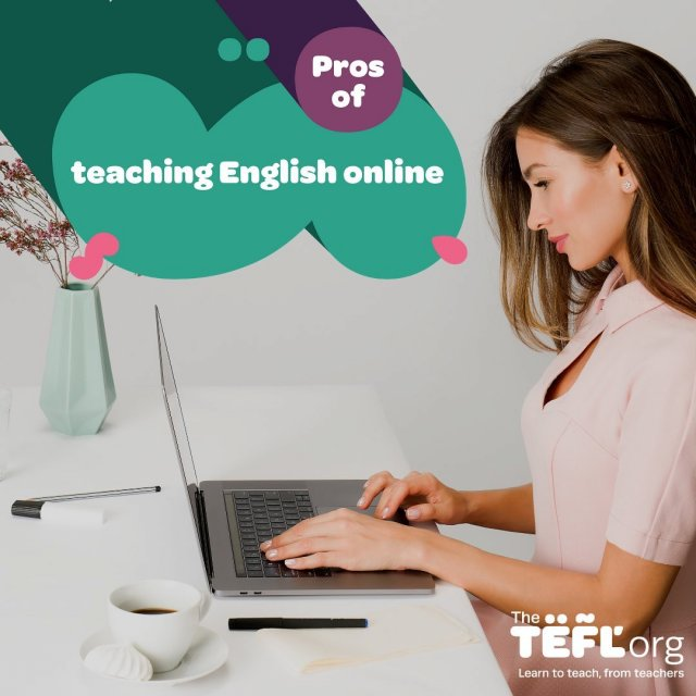 Thinking about teaching English online? 💻⁠⠀⁠⠀ ⁠⠀⁠⠀ There are a lot of great reasons for teaching online. When you consider the perks it's no wonder that around a quarter of our course graduates go on to teach English online.⁠⠀⁠⠀ ⁠⠀⁠⠀ Online teaching allows you to work from anywhere in the world and take command of your own schedule. So, whether you're looking for a career change or to supplement your existing income with a flexible job, it might just be for you!⁠⠀⁠⠀ ⁠⠀⁠⠀ Swipe along to see some of the pros of teaching English online ➡️⁠⠀⁠⠀ ⁠⠀⁠⠀ Find out everything you need to know about teaching English online by following the link in our bio 🔗