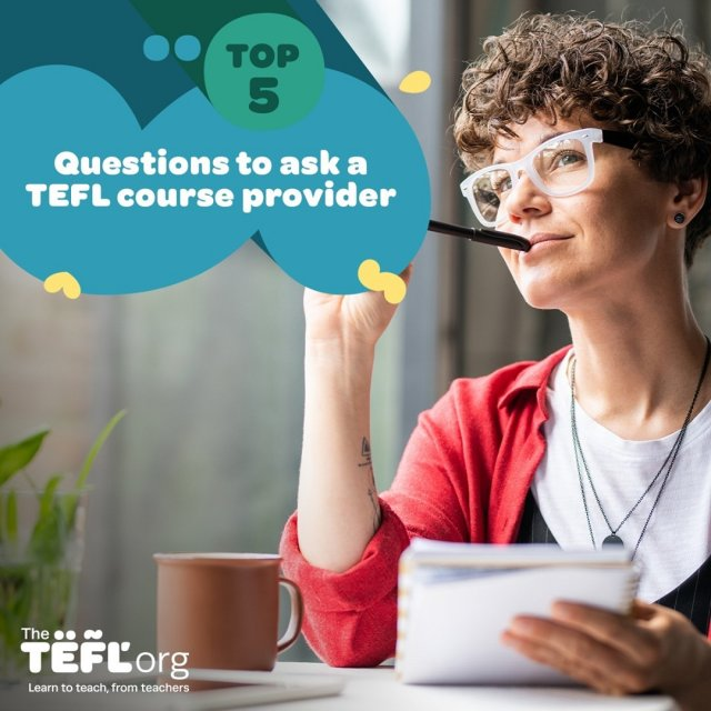 5 top questions you should ask a TEFL course provider before signing up 👇  You should be able to find the answers to these questions on a provider's website, but if you can't it's important to get in touch with them to ask before making a purchase.   It's essential to make sure the course that you sign up for fits your goals and expectations. Avoid nasty surprises like hidden fees and feel confident that the qualification you're studying towards will prepare you for teaching and is recognised by employers worldwide.  Read the top 5 questions you should ask a TEFL course provider - link in bio 🔗  Save this post to come back to at a later date!
