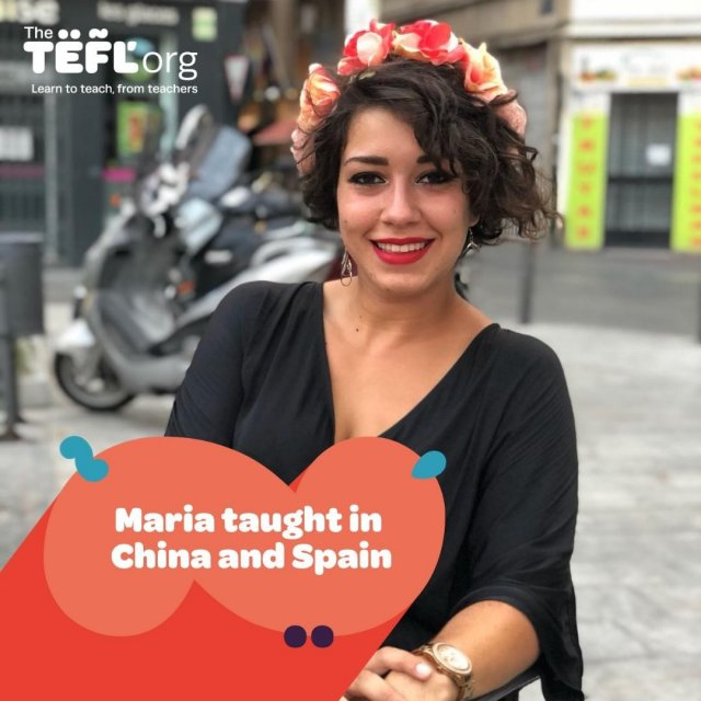 """Originally from Cordoba in the South of Spain, 26-year-old, María has taught in China and Spain.   """"I have taken advantage of it ever since. When I got certified, I was working in China, and the qualification helped me develop and improve my teaching skills, this resulted in better-prepared activities, smoother lessons and an increase in my own efficiency.""""   When asked if her teaching style had evolved since taking the course, she said:   """"I am 100% sure my style has turned from totally teacher-centred to absolutely student-based, with activities that not only engage and involve the students but also encourage them to use English to express themselves. Furthermore, I can see my own evolution when it comes to lesson preparation, since, I have become more efficient, and I can now relate content and activities more easily than I could before taking the course.""""  Follow the link in our bio to read more about Maria's experience 👩🏻🏫"""