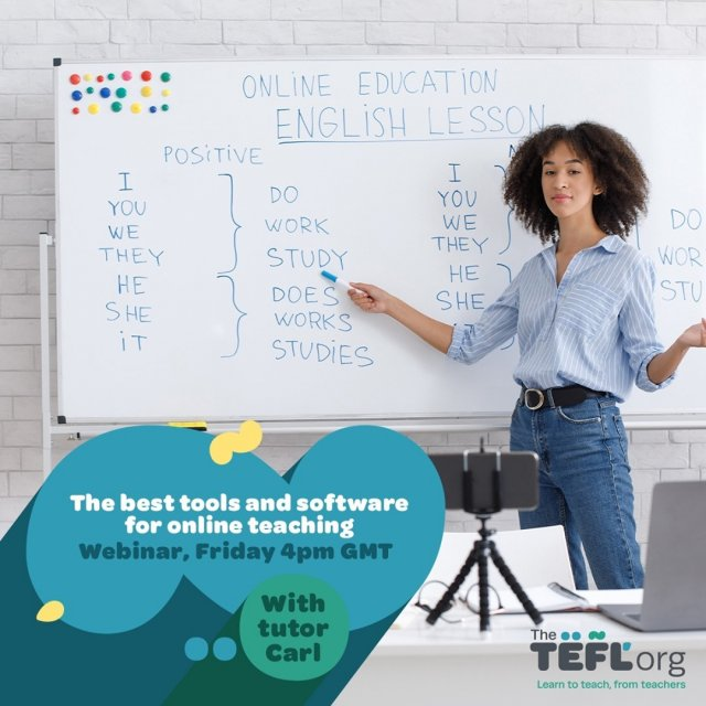 Join us Friday, 26th February at 4pm UK time when TEFL Org tutor Carl will be talking us through his must-have tools and software for online teaching.  Don't forget to click '⭐ Get Reminder' to be notified when we go live 🔗  Drop your questions for Carl in the comments section and we'll make sure to answer them during the livestream.