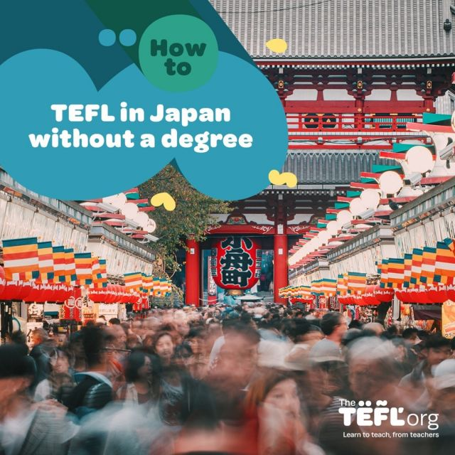 Are you looking to teach English in Japan without a degree?⁠ ⁠ Japan has been a popular destination for newly-qualified and experienced EFL teachers alike for many years. It's a country with so much to offer teachers – an abundance of jobs, good salaries and benefits, and an incredible culture and history.⁠ ⁠ Your options to teach English in Japan without a degree require you to have one of the following:⁠ ⁠ 👉 A Working Holiday Visa⁠ 👉 A spousal visa⁠ 👉 A student visa⁠ 👉 Or a Japanese passport⁠ ⁠ Find out more by following the link in our bio 🔗⁠