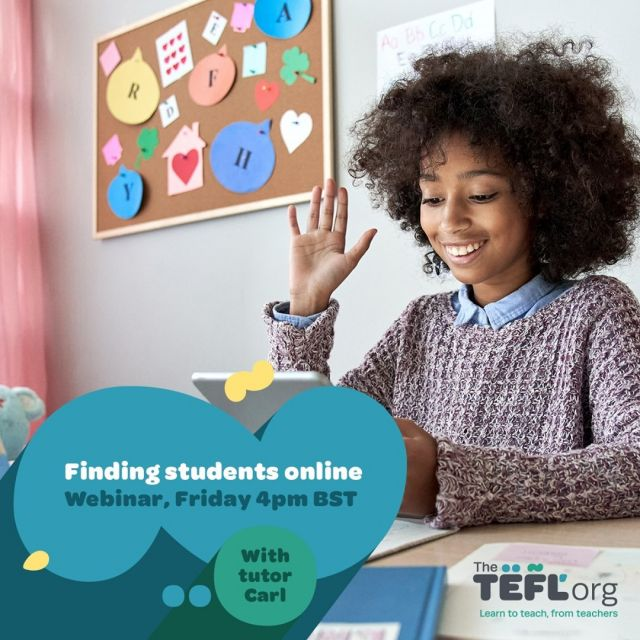 Just started teaching and looking for new students?⁠ 👀⁠ ⁠ Join us this Friday at 4pm (UK time) when we'll be discussing how, and where, to find English language learners online. ⁠ ⁠ Don't forget to click '⭐ Get Reminder' to be notified when we go live - Link in bio 🔗⁠ ⁠ Drop your questions in the comments section and we'll make sure to cover them during the livestream.