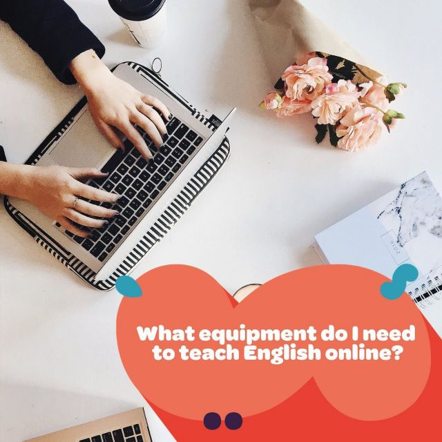 What equipment do I need to teach English online? 👇⁠⁠ ⁠⁠ A laptop/computer, a webcam, and a good headset are absolute musts. Your students need to be able to both see and hear you clearly.⁠⁠ ⁠⁠ 💻 A laptop/computer - A modern device with a good camera and mic. ⁠⁠ ⁠⁠ 💻 A webcam - Most laptops have in-built webcams, but many won't be up to scratch for teaching online. This means you'll need to invest in a good external webcam that can simply be plugged in. ⁠⁠ ⁠⁠ 💻 A good headset - When it comes to headsets it's really worth paying a little more for a good one. Just think, if a student can't hear you clearly are they likely to come back to you for more lessons?